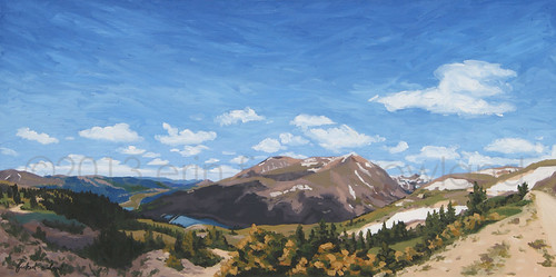 Hoosier Pass, CO Original Painting by Erin Fickert-Rowland