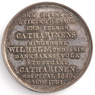 Medal on laying of the foundation stone of the Catherine's hospital reverse