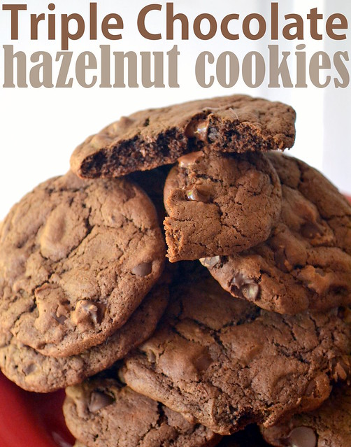 Triple Chocolate Hazelnut Cookies
