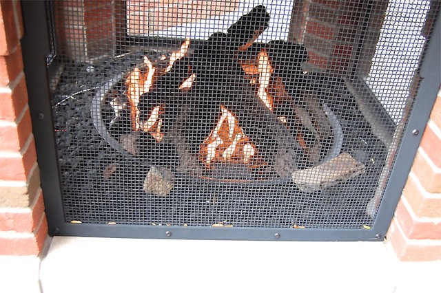Outdoor fireplace, Holland Peanut Store