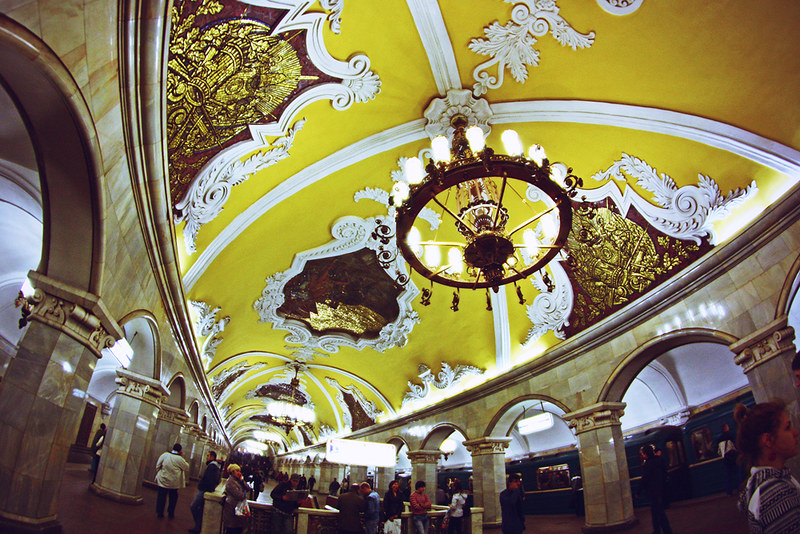 moscow, russia, metro, Komsomolskaya