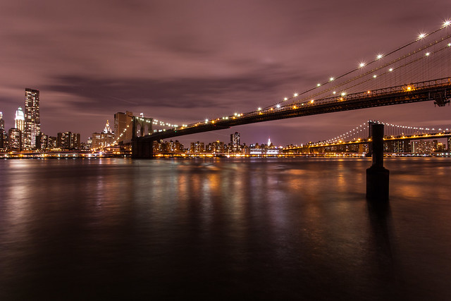 Bright lights, big city: Manhattan skyline from DUMBO *5*