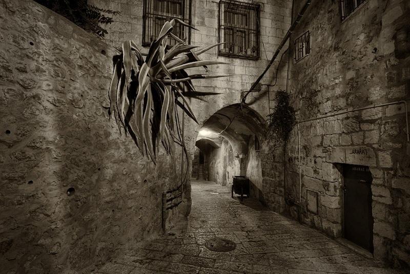 16. Rincones de Jerusalén, en blanco y negro. Autor, Jean Spector
