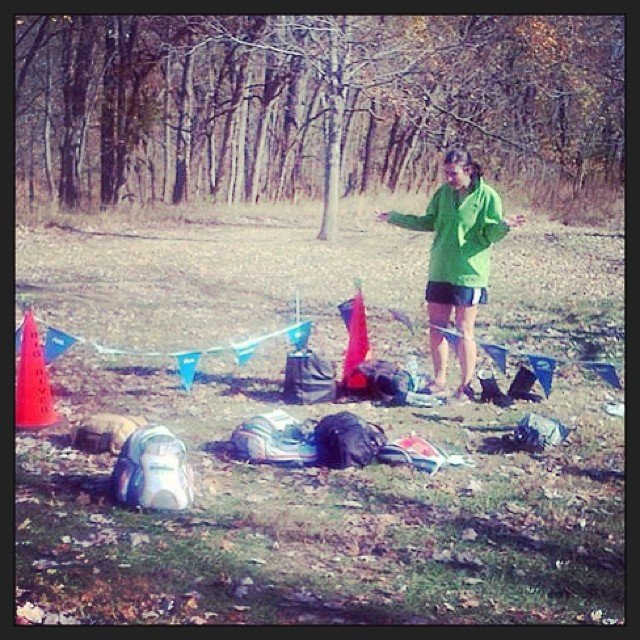 """Where's my bag??"" A photographic celebration that mine was not the only one left in the bag drop this year. #running #skippo30k #trails"