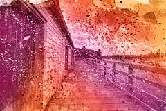 PEI Boardwalk - Vibrant Acrylic Splashes