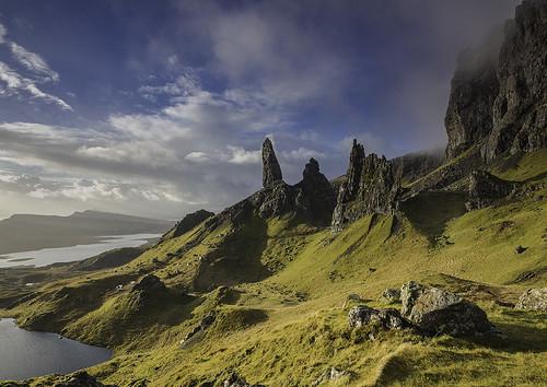 skye sunrise landscape scotland highlands peaks oldmanofstorr