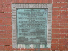 Photo of George V bronze plaque