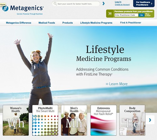 Metagenics website