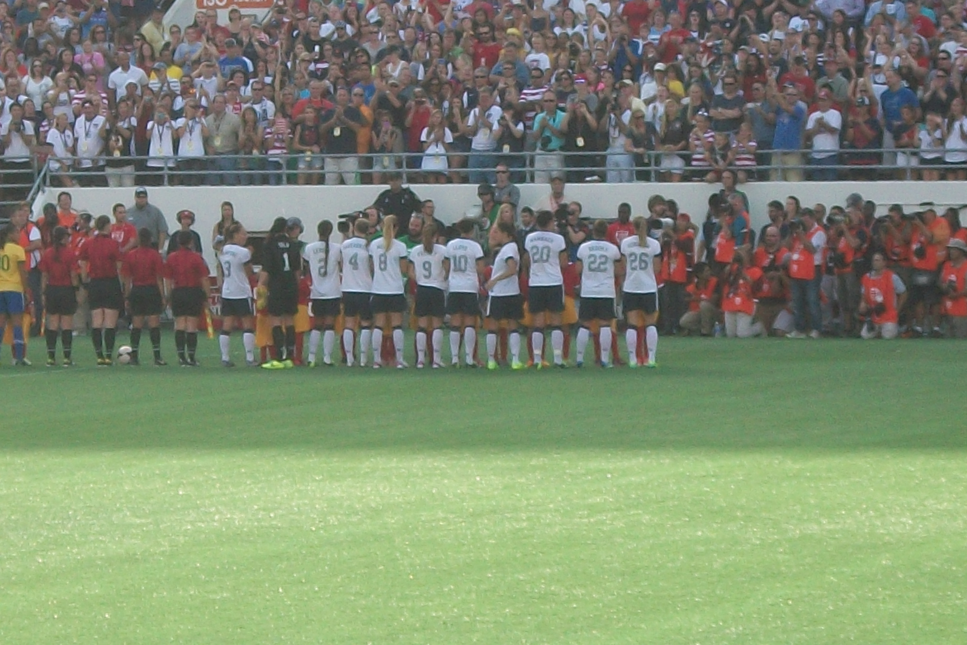 USA WNT vs Brazil November 2013
