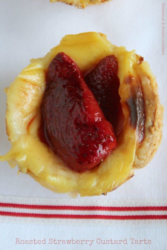 Roasted Strawberry Custard Tarts 2