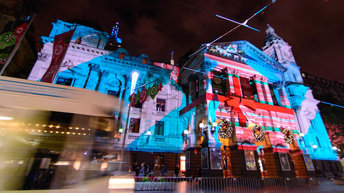 Melbourne Town Hall Projections - 2013