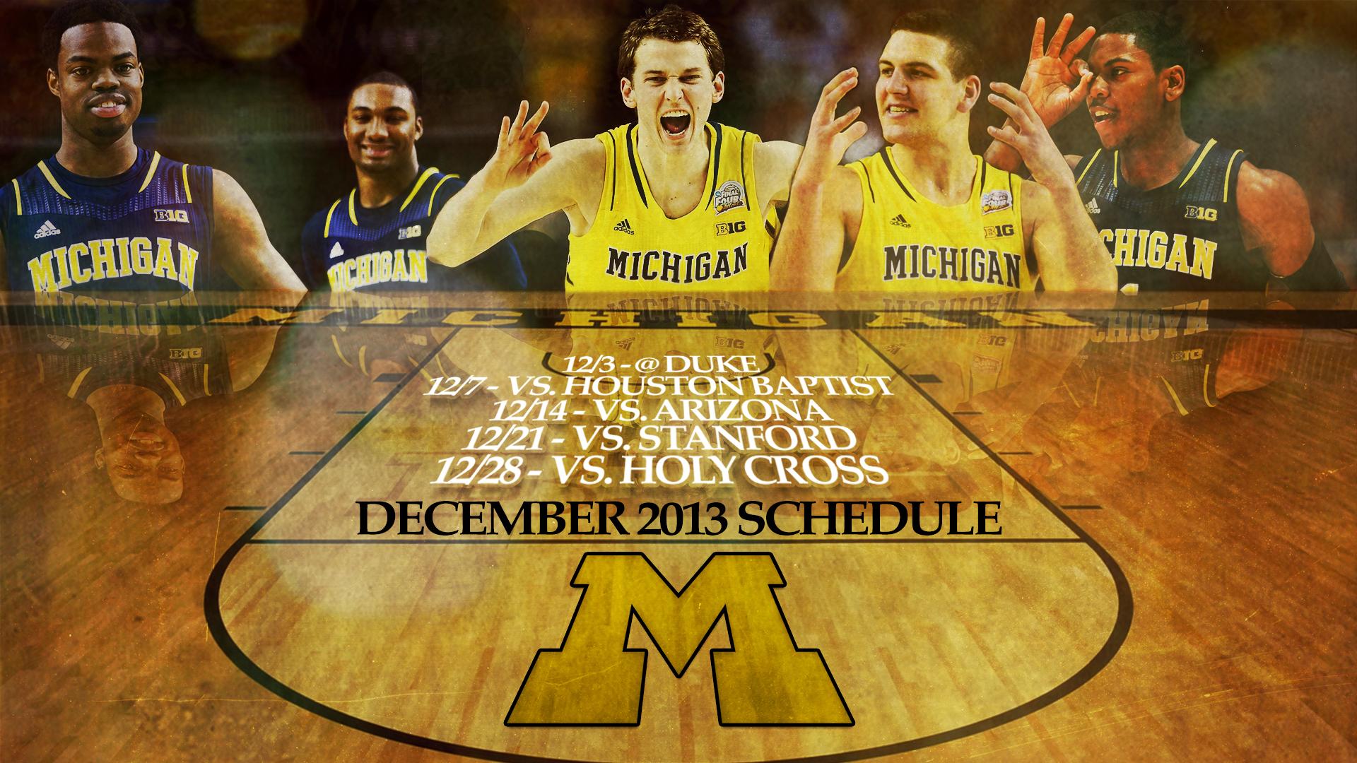 Wallpaper Season December Basketball Schedule Mgoblog