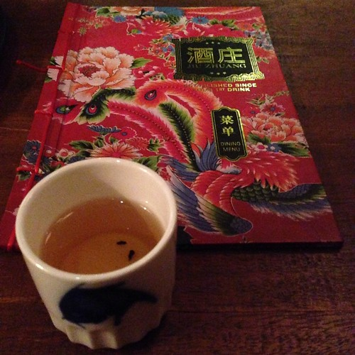 Hot cup of Chinese Tea just before leaving Jiu Zhuang