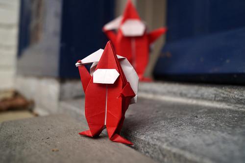 Origami Télapó Santa Claus (Peter Budai)