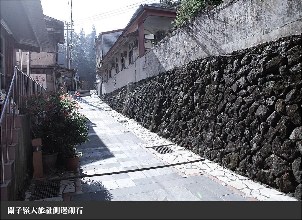 關子嶺大旅社側邊砌石