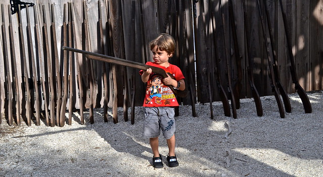 Musket gun training for kids at colonial quarter st augustine florida
