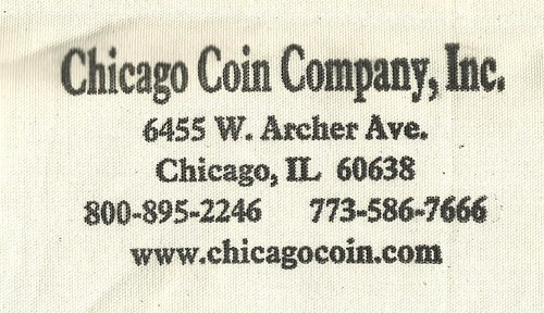 Chicago Coin Company coin bag
