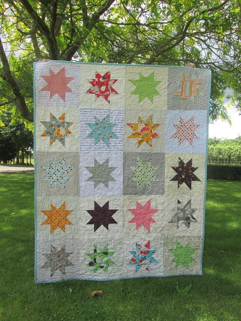 Flea Market Fancy Wonky Stars quilt.