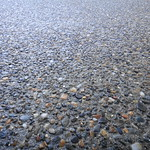 "3/8"" Pea Gravel Exposed Aggregate Close Up"
