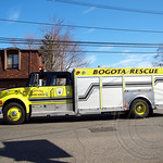 Bogota Rescue Squad 46 Fire Truck, 2012 St. Patrick's Day Parade, Bergenfield, New Jersey