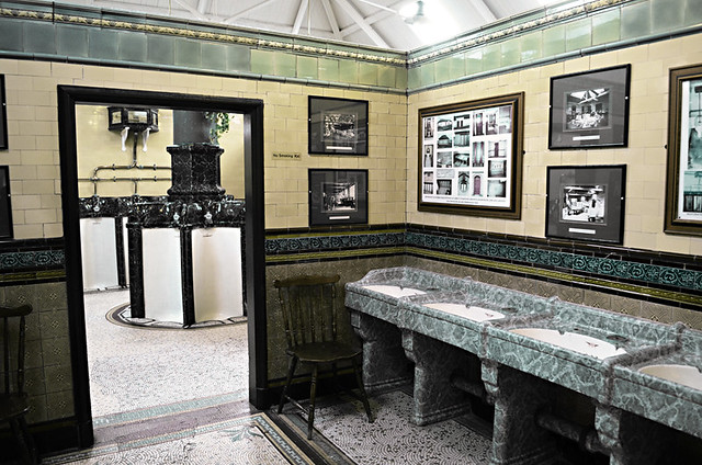 Sinks, Victorian Toilets, Rothesay, Isle of Bute, Scotland