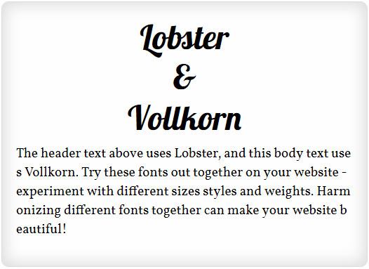Lobster and Vollkorn