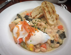 Egg Benedict with White Bean Salad at the Inn of t…