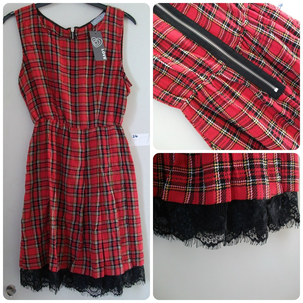 In Love With Fashion Tartan Dress