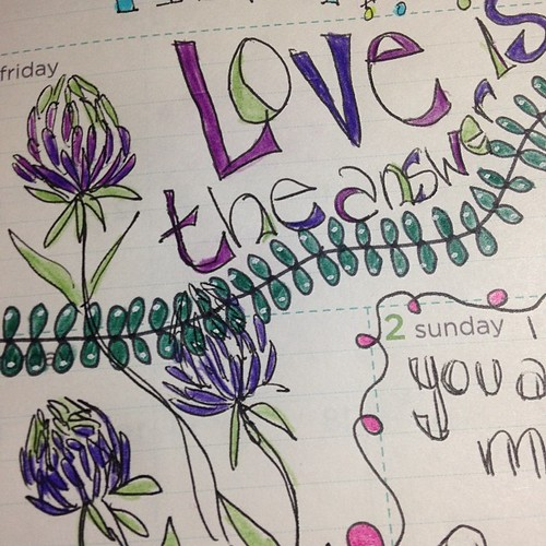 Love is the answer a glimpse into my art journal planner by Carla (Color Heals Me)