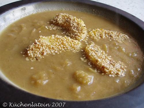 Apfel-Porree-Suppe
