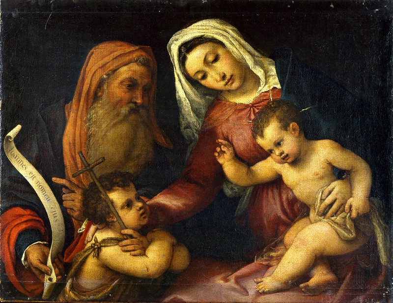 Lorenzo Lotto - The Virgin and Child with Saints Zacharias and John the Baptist (c.1546)