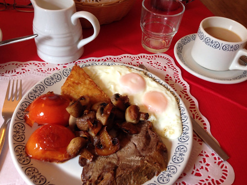 Irish breakfast with lamb...