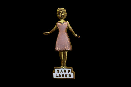 Harp.....the  'Cool Blonde' Lager badge c1961