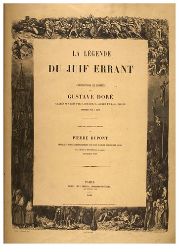001- Portada-La légende du Juif errant, compositions et dessins de Gustave Doré... -1856-BNF-GALLICA