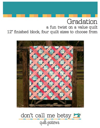 New in the Pattern Shop today - The Gradation quilt!