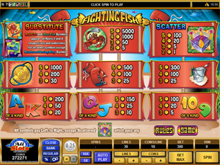 Fighting Fish Slots Payout