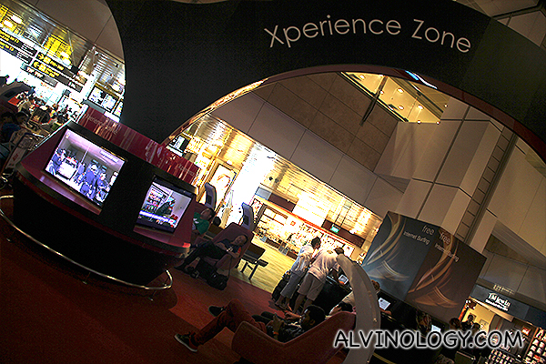 Xperience Zone from the ground floor