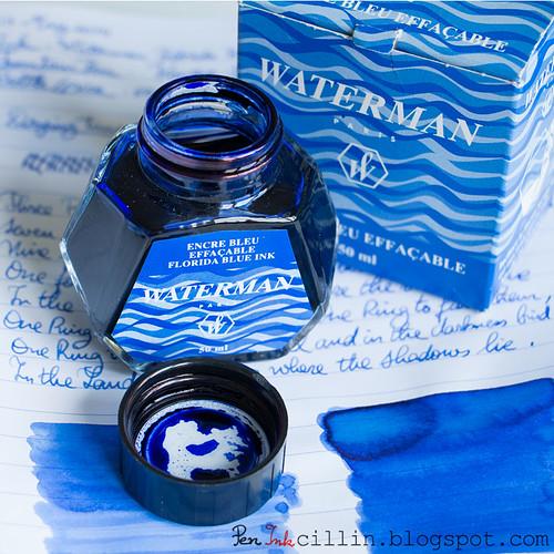 Waterman Blue ink bottle