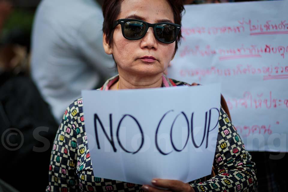 Thailand 12th military coup d'etat  - Anti Coup Protest @ Bangkok, Thailand