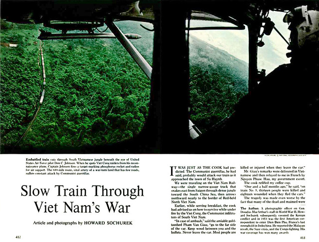 National Geographic September 1964 - Slow Train Through Viet Nam's War (1) - by Howard Sochurek