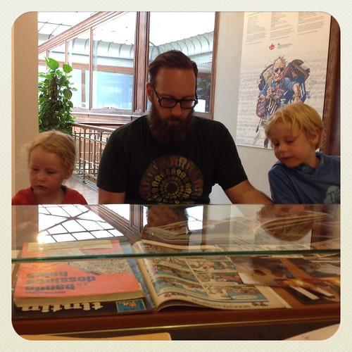 Mijn stripliefhebbers in het museum