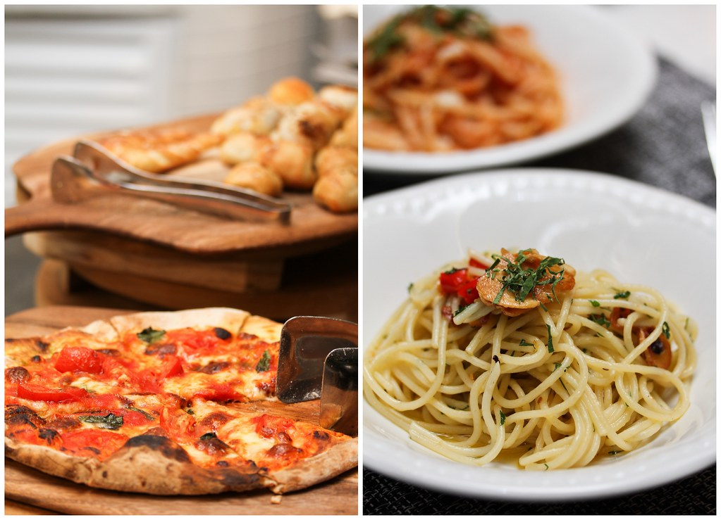The Carvery: wood-fired pizzas & aglio olio pasta