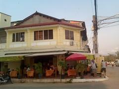 Busy corner in Kampot Cambodia