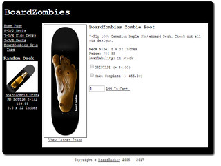 Zombie Board foot with black BG