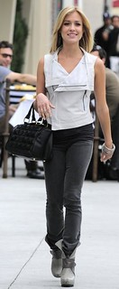 Kristen Cavallari Leather Vest Celebrity Style Women's Fashion