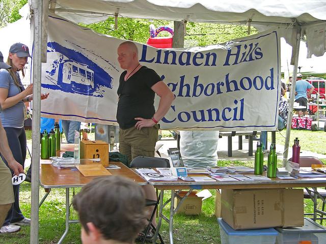 2013 Linden Hills Festival neighborhood council booth