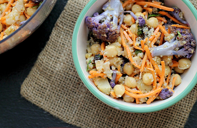 Moroccan Carrot and Chickpea Salad with Dried Plums, Quinoa, and ...