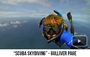 'Scuba Skydiving' - Gulliver Page