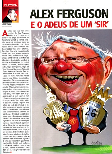 Alex-Ferguson-Manchester-United-caricature by caricaturas
