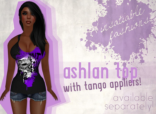[IF] Thrift Shop Item: Ashlan Top (Shown with Lola Tango Appliers)! Comes in 5 colors!